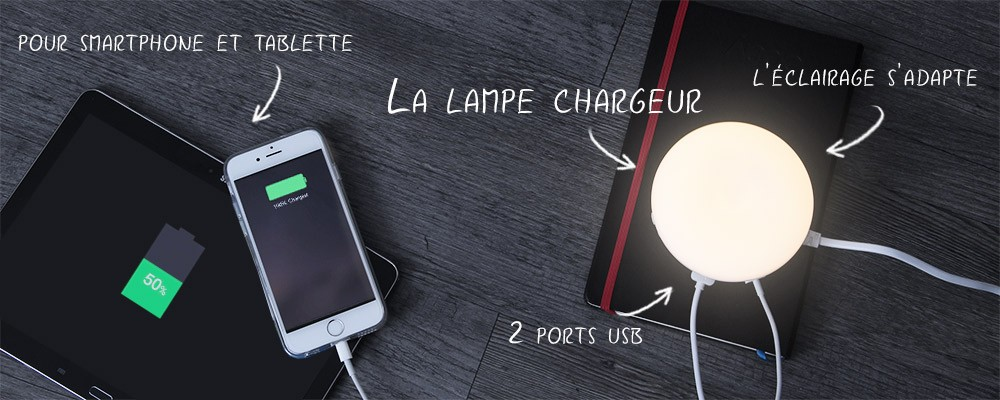Chargeur Double USB Lampe