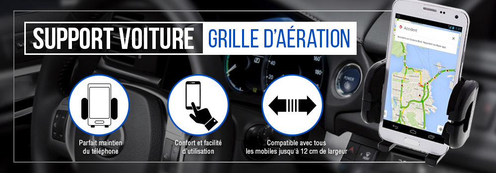 Support voiture grille Smartphone