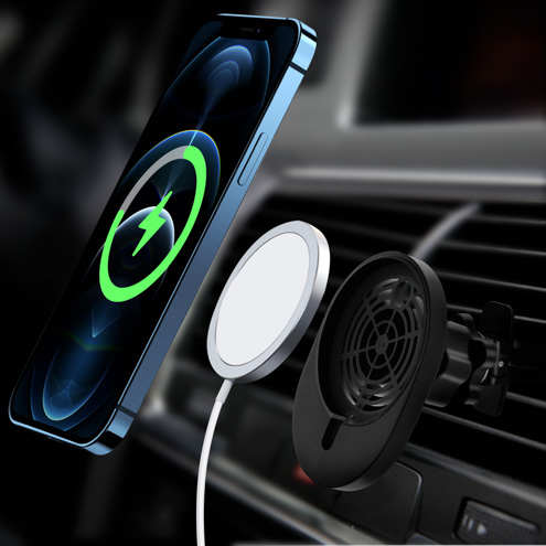 Support Voiture avec Chargeur Magsafe et iPhone 12